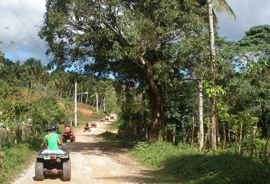 Best ATV Tour to Playa Rincon in Samana Dominican Republic.